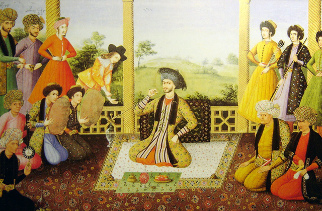Painting of a Shah, circa 1670. Source.