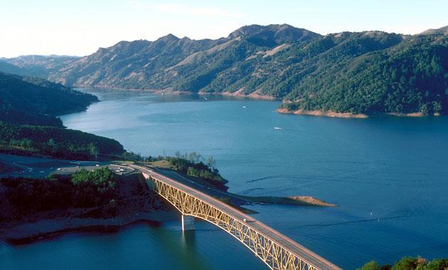 Lake Sonoma via Wikimedia