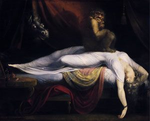Painting by John Henry Fuseli -The Nightmare